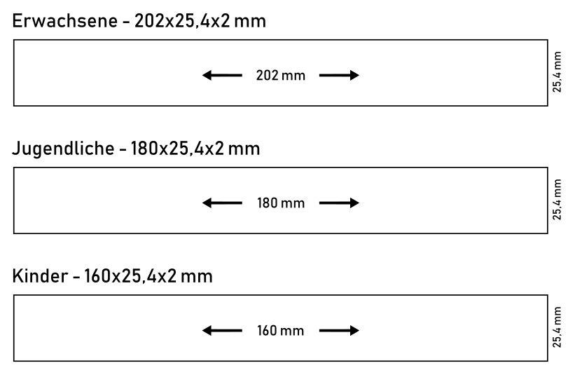 Silikonarmband Größen breit