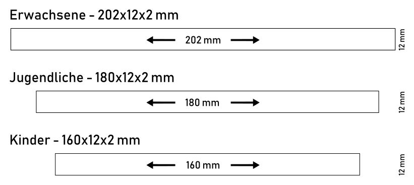 Silikonarmband Größen Standard