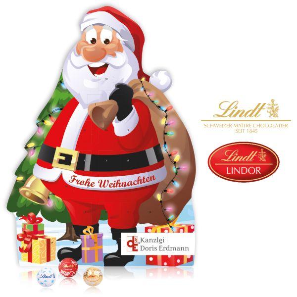 Adventskalender Weihnachtsmann bedrucken