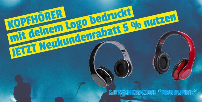 Kopfhörer mit Logo bedrucken